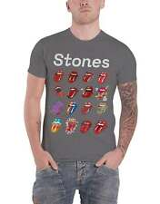 The Rolling Stones T Shirt Tongue Evolution Tour new Official Mens Charcoal Size