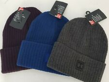 Under Armour Men's UA ColdGear Truck Stop Beanie Knit Hat Cuffed Stocking Cap
