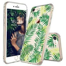 iPhone 8 Case, Fashion 7, MOSNOVO Tropical Palm Leaves Clear Design Printed Tran