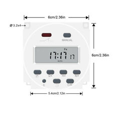 Digital Electric Power Programmable Control Center Timer Switcher Dual Outlet