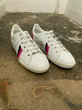 NEW Mens Dior Homme White and Pink/Black Trainers Size 42 RRP £400 BNIB