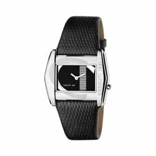 Cerruti 1881 Casiopea Black Dial Leather Strap Women's Watch, NEW + BOXED