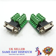 RS232 D-SUB DB9 Female Adapter to Terminal Connector Signal Module F4I7