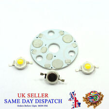 Aluminium Star Base Plate + 3pcs LED Chip PCB Heatsink SMD Lamp Bead