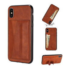 Retro Soft Leather Wallet Card Holder Case Cover For iPhone Xs Max XR X 7 8 Plus
