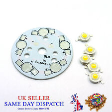 Aluminium Bases Plate + 5pcs High Power LED Chip PCB Heatsink SMD Lamp Bead