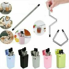 Reusable Collapsible Stainless Metal in Folding & Outdoor Keychain Straw