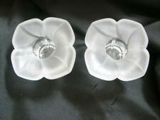 PAIR J G DURAND FLORENCE FRENCH SATINE CRYSTAL CANDLE HOLDERS #2