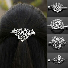Viking Runes Knots Crown Hairpins  Barrettes  Hair Clips Jewelry Vintage
