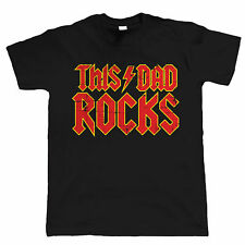 This Dad Rocks, Mens Funny T Shirt, Fathers Day Birthday Gift Band Musician