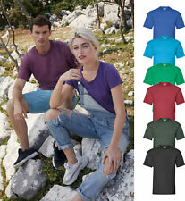 Fruit Of The Loom T Shirt Plain Men/Women Unisex Short Sleeve 100% Cotton