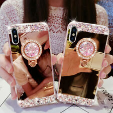 Bling Diamond Crystal Ring Holder Mirror Case for Xiaomi F1/Mi9/6X/5X Cover