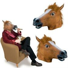 Halloween Animal Horse Full Head Mask Party Fancy Dress Cosplay Costume Props
