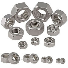 Hexagon Full Nuts To Fit Metric Bolts Coarse Pitch Screws A2 Stainless Steel