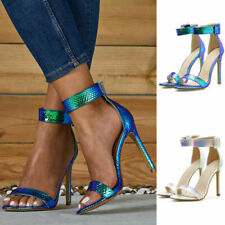 Sexy Women Open Toe Ankle Strap Stiletto Sandal Buckle High Heel Shoes Plus Size