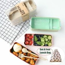 Lunch Box 3 Layer Portable Bento 900ml Microwave Safe Food Storage Container