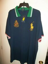 NWT Mens Polo Ralph Lauren Big Pony Navy Classic Fit Crest Polo Shirt New $98.50