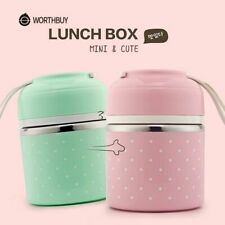 Cute Thermal Lunch Box Leak-Proof Stainless Steel Portable Bento Food Container