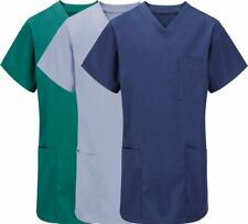 Unisex Medical Work Wear Scrub Top Adults Surgical Dentist Lightweight Tunic Top