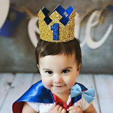 Baby Boy Birthday 1st Hat 2rd 3 Birthday Crown Cake Smash outfit Party Decor New