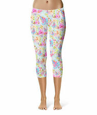 Women's Capri 3/4 Leggings - Beach Time Aloha Surfboard