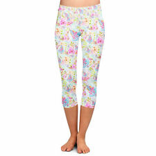 Women's Yoga Capri Leggings - Beach Time Aloha Surfboard