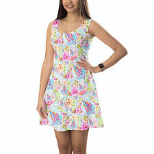 Sleeveless Flared Dress - Beach Time Aloha Surfboard