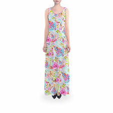 Flared Maxi Dress - Beach Time Aloha Surfboard