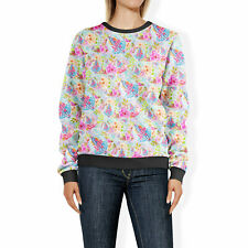 Women's Sweatshirt - Beach Time Aloha Surfboard