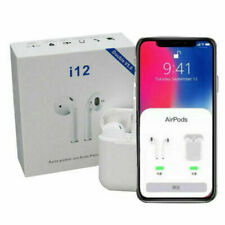 i12 TWS Wireless Bluetooth Airpods Earphones For Earpods Earbuds Earplugs - New