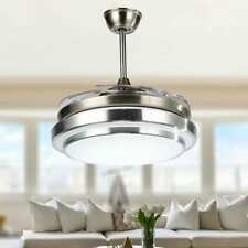 36' Dimmable Retractable Ceiling Fan With LED Light and Remote - 36