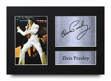 Elvis Presley Signed Pre Printed Autograph Photo Gift For a Rock n Roll Fan