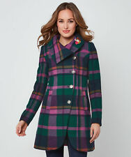 Joe Browns Womens Colourful Check Button Up Coat