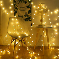 Star Fairy Light 50 LED Warm White Colorful Bedroom Party Wedding String Lights
