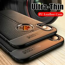 Luxury Leather PU Silicone Soft Case On The For iphone 7 8 6 6s PLus X Full