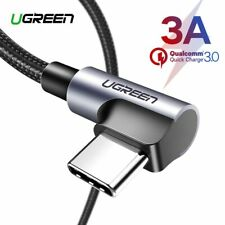 Ugreen 3A USB Type C 90 Degree USB C Cable for Samsung Galaxy S10 S9 Plus