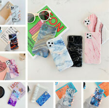 Marble Case For iPhone 11 Pro Max XS XR X 8 7 Granite Cover Soft IMD Back Shell