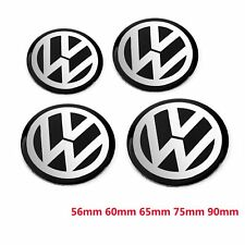4pcs 56mm 60mm 65mm 75mm 90mm Black Car Wheel Center Hub Cap Badge Logo Emblem