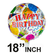"18"" inch Happy Birthday Round Celebration Party Decoration Foil Helium Balloon"
