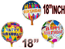 "18"" INCH Happy Birthday Round  Latex Foil Balloon Kids Gift Party Favor Decorati"