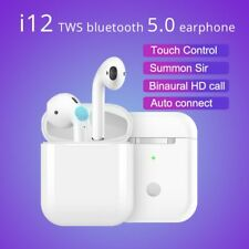 i12 TWS WIRELESS AIRPODS BLUETOOTH 5.0 EARPHONES TOUCH CONTROL EARBUDS LATEST UK
