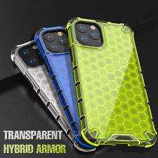 Airbag Shockproof Armor Case on For iPhone 11 Pro max Honeycomb transparent