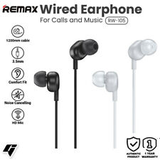 Remax 3.5mm Wired Earphone For Calls and Music with HD Microphone RW-105