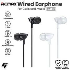 Remax Music Earphone With HD Microphone Side In-ear 3.5mm RW-106