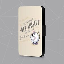 Mrs Potter And Chip Beauty And The Beast Faux Leather Flip Phone Case Cover