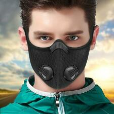 Cycling Face Shield Mouth Muffle Double-valve Protection Carbon Filter Anti Fog
