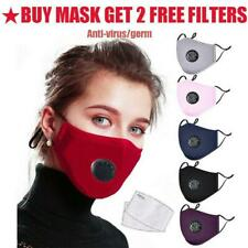 PM2.5 Anti Air Pollution Face Shield Veil Mouth Muffle w/Respirator & Filters