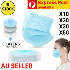 Face Cover Mouth Cover Anti Dust Surgical Guard 3 ply layer CERTIFICATE AU STOCK
