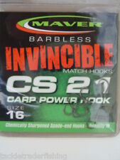 MAVER INVINCIBLE BARBLESS MATCH CS21 CARP POWER HOOK