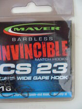MAVER INVINCIBLE B'LESS MATCH CS23 CARP WIDE GAPE HOOK